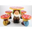 Möbelgrupp svamp-dvärgar för barn