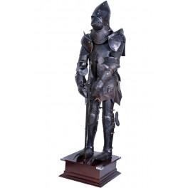 Bärbar rustning med svärd 185 cm - mörk