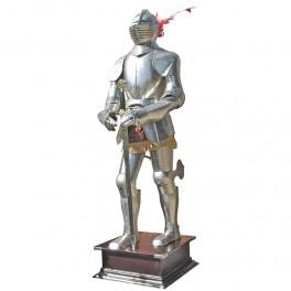 Bärbar rustning med svärd 185 cm - blank